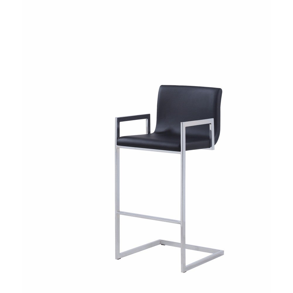 Sensational Contemporary Bar Height Stool With Cantilever Base Black Pdpeps Interior Chair Design Pdpepsorg