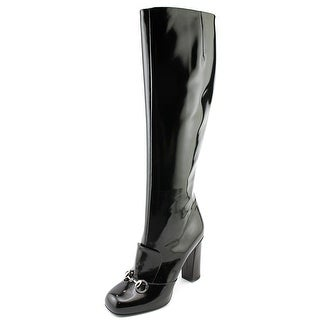 Gucci Regent Women Round Toe Synthetic Black Knee High Boot