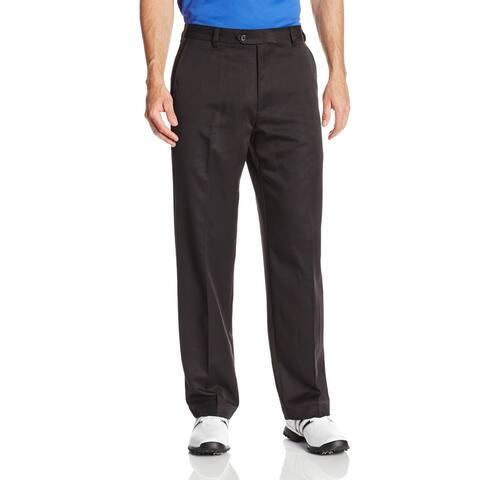 IZOD Mens Pants Black Size 40x32 Golf Flat Front Athletic Straight Leg