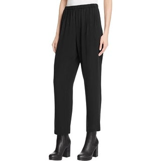 Eileen Fisher Womens Ankle Pants Silk Ankle Pant