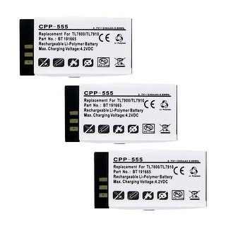Battery for AT&T CPP555 (3-Pack) Replacement Battery
