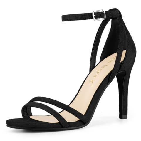Women's Ankle Strap Stiletto High Heel Sandals