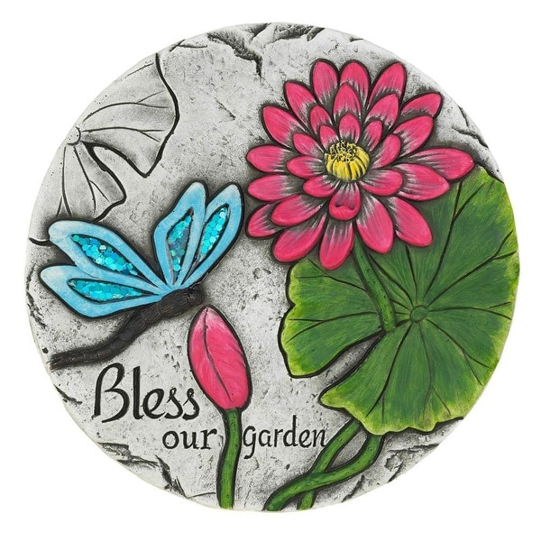 2 Bless Our Garden Butterfly Stones