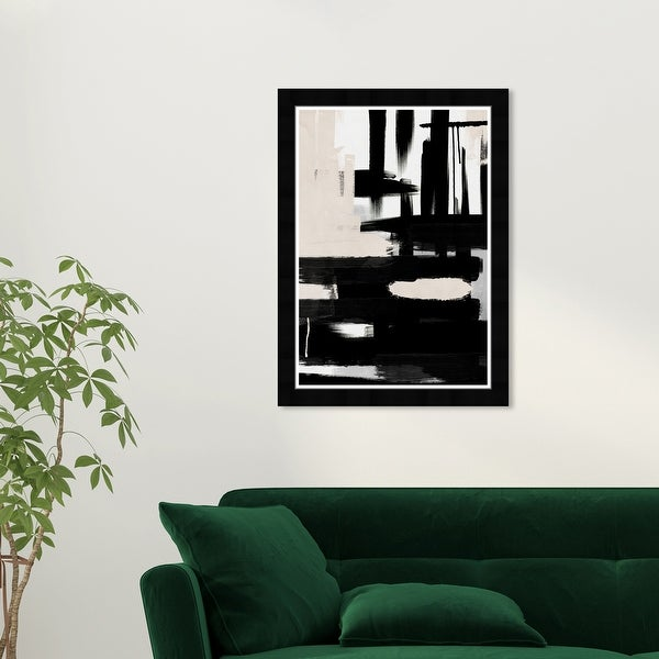 Wynwood Studio 'Road to Nowhere' Abstract Wall Art Framed Print Textures - Black, White. Opens flyout.