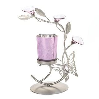 Pink Butterfly Candleholder