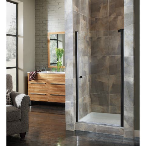 """Foremost CVSW3172-CL Cove 72"""" High x 30-1/2"""" Wide Hinged Frameless Shower Door with 1/4"""" Clear Glass"""