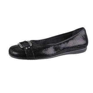 Trotters Womens Sizzle Signature Embellished Ballet Flats