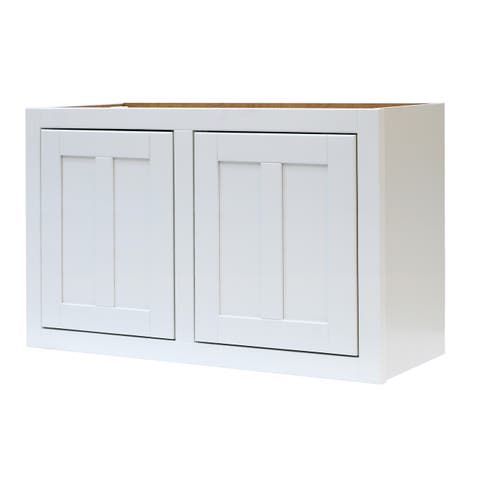 """Sagehill Designs VDW3018 Veranda 30"""" x 18"""" Double Door Kitchen Wall Cabinet - Linen"""