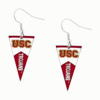 USC Trojans NCAA Pennant Dangle Earring
