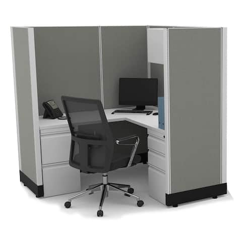 Modular Office Desk Furniture 67H Powered