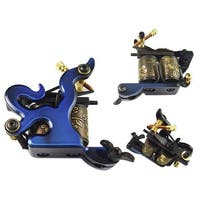 10-Wrap Coils Tattoo Machine Shader - Blue