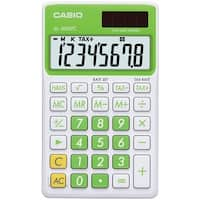 Casio Sl300Vcgnsih Solar Wallet Calculator With 8-Digit Display (Green)