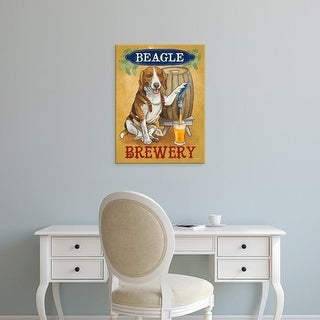 Easy Art Prints Mary Urban's 'Beer Dogs IV' Premium Canvas Art