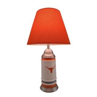 University of Texas Longhorns Logo Ceramic Table Lamp 21 Inches Tall - Orange
