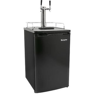 EdgeStar KC2000TWIN 20 Inch Wide Dual Tap Kegerator for Full Size Kegs with Ultra Low Temp