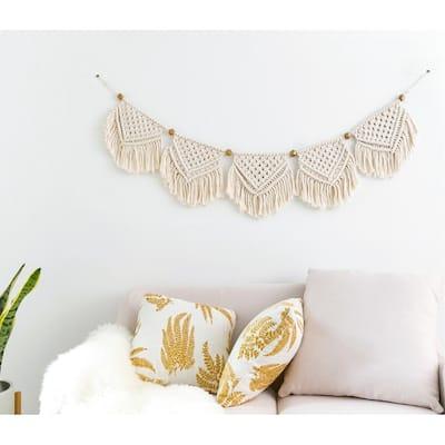 Macrame Banner Wall Hanging Home Decor