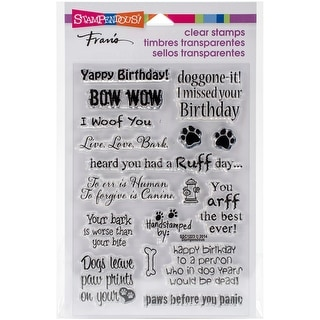"Stampendous Perfectly Clear Stamps 4""X6""-Dog Sayings"