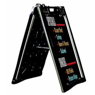Aarco Universal Sidewalk A-Frame Sign Holder with Deluxe Black