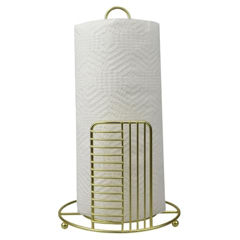 Halo Free Standing Steel Paper Towel Holder, Gold