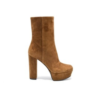 Gucci Women's Claudie Brown Suede Platform Ankle Boots Size 38 / 8