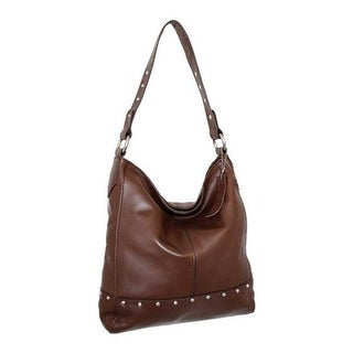 Shop Nino Bossi Women s Calypso Leather Hobo Bag Brown - US Women s One  Size (Size None) - Free Shipping Today - Overstock.com - 25669381 9cf8f60b4586a