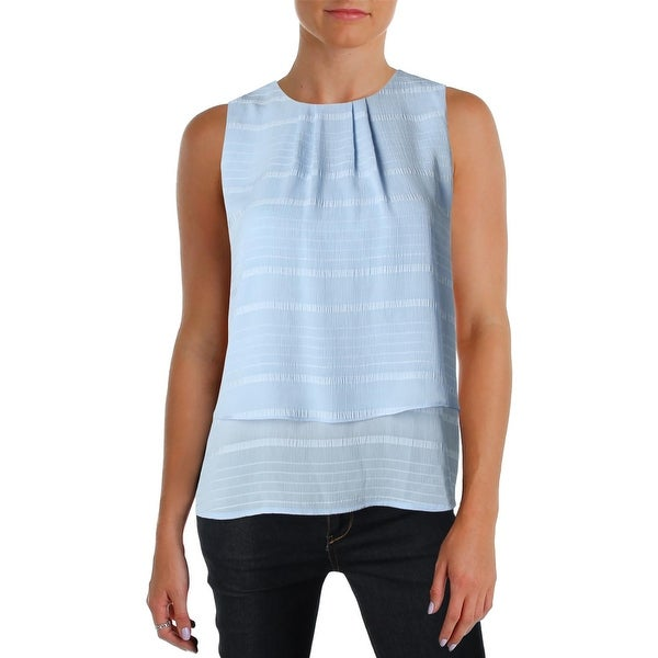 ff5475d6 Shop Tommy Hilfiger Womens Tunic Top Pleat Neck Hi-Low - Free Shipping On  Orders Over $45 - Overstock - 22871231