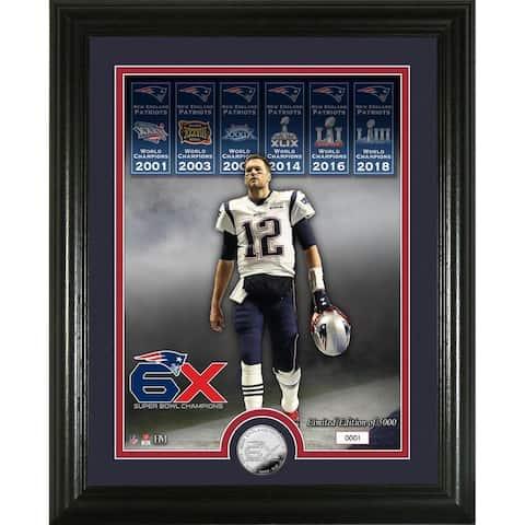 Tom Brady 6X Super Bowl Champion Silver Coin Photo Mint