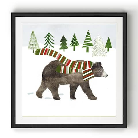 Woodland Christmas I -Black Framed Print