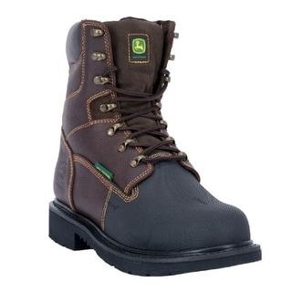 "John Deere Work Boot Men 8"" FR Steel Toe MET Guard Lacer Brown JD8375"