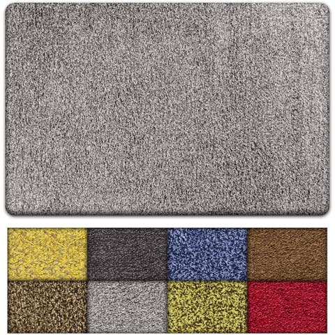 Kaluns Door Mat, Entry Rug, Non Slip PVC Waterproof Backing, Shoe Mat for Entryway, Super Absorbent, Machine Washable 18 X 28