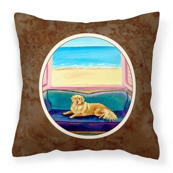 Shop Golden Retriever Couch Sitting Fabric Decorative Pillow 14 X
