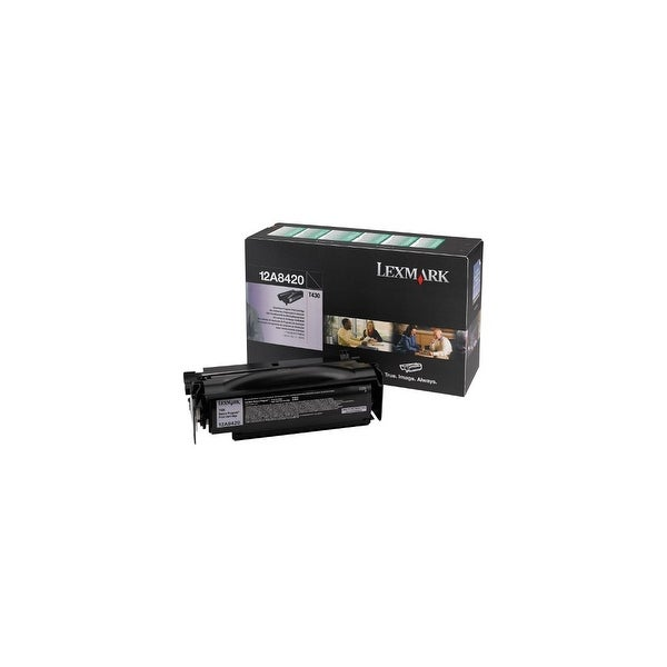 Lexmark 12A8420 Return Program Print Toner Cartridge For T430 / T430d -Black