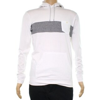 Quiksilver White Men's Size Small S Hooded Big Stripe Sweater