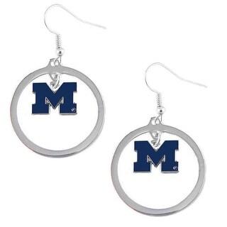 Michigan Wolverines Hoop Logo Earring Set NCAA Charm