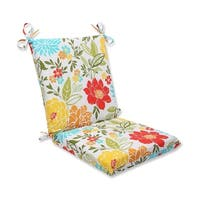 """36.5"""" Spring Bling Outdoor Patio Chair Cushion with Ties - White"""