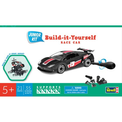 Junior Plastic Model Kit-Black Race Car - Black