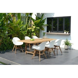 Link to Amazonia Deluxe Hawaii Wood 7 Piece Rectangular Patio Dining Set Similar Items in Patio Furniture
