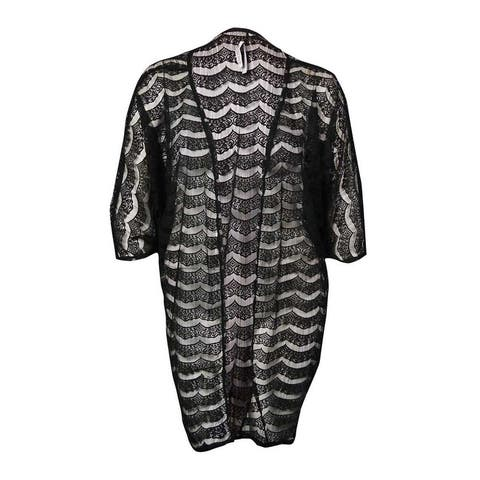 Kenneth Cole REACTION Women's Sheer Lace Kimono Swim Cover