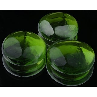 Decorative Tempered Round Emerald City LavaGlass® for Fire Tables 13 x 1.7