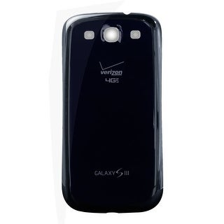 OEM Samsung Galaxy S3 Battery Door - Verizon Logo - Blue