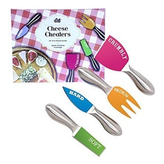Cheese Cheaters and Knives (Set of 4), Multicolor