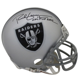 Rich Gannon Autographed Oakland Raiders Mini Helmet 2002 NFL MVP JSA