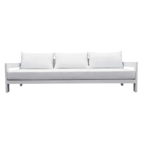 Renava Wake Modern White Outdoor Sofa