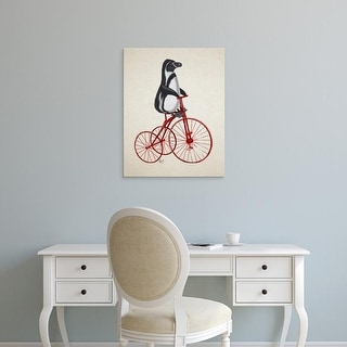 Easy Art Prints Fab Funky's 'Penguin on Bicycle' Premium Canvas Art