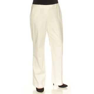 TOMMY HILFIGER Womens Ivory Wide Leg Wear To Work Pants Size: 12