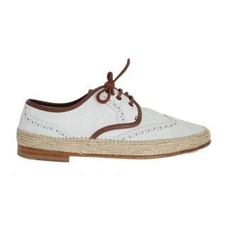 Dolce & Gabbana Dolce & Gabbana White Brown Leather Dress Shoes