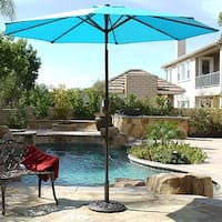 BELLEZE Outdoor Patio Covering Umbrella 9 Foot Sun Cover UV Resistant Water Resistant Material Home Outdoors