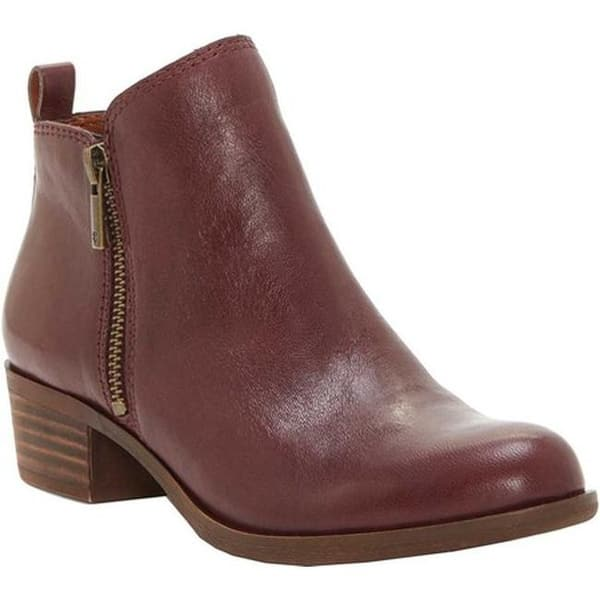 8f2aab388 Shop Lucky Brand Women's Basel Bootie Raisin Wild Vegetable Leather ...