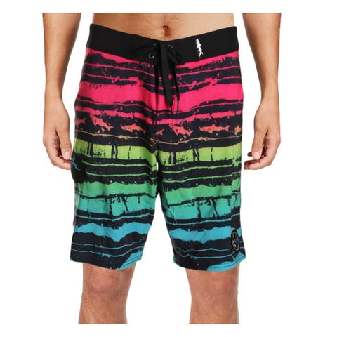 Maui and Sons Mens OMG Quick Dry Printed Board Shorts - Black