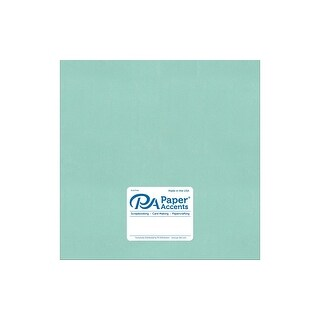 Paper Pearlized 12x12 80lb Frosted Teal 5pc